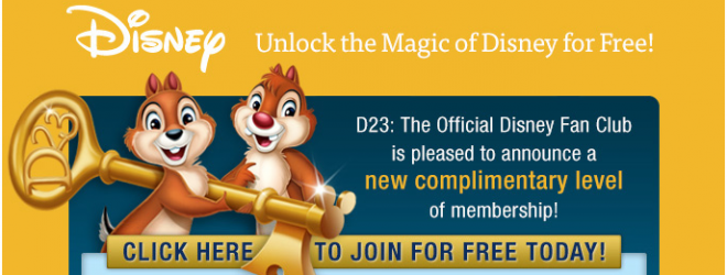 Join D23; Disney's Official Fan Club for FREE!