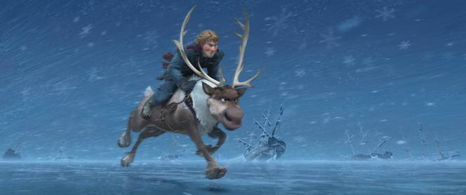 frozen riding animal