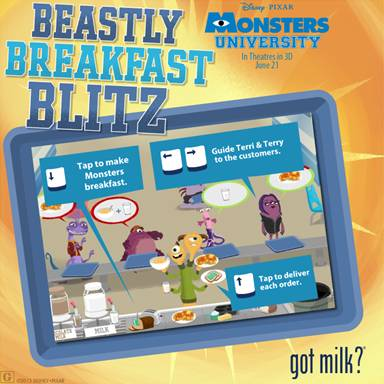 monsters u got milk game image
