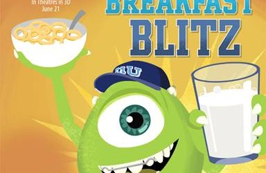 "MONSTERS UNIVERSITY – Play the ""Beastly Breakfast Blitz"" Game!!!"