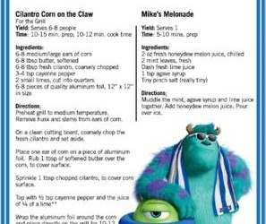 BBQ Recipes Now Available!!! from MONSTERS UNIVERSITY