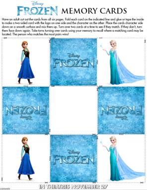 Frozen Activity Sheets image