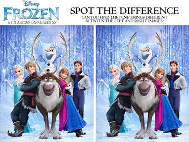 frozen spot the difference image
