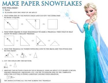 make paper snowflakes image