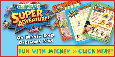 Mickey Mouse Clubhouse: Super Adventure on DVD: Activity Sheets
